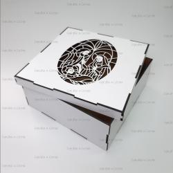 Коробка из фанеры подарочная