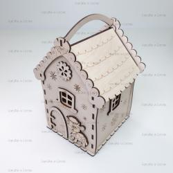 """Коробка из фанеры """"домик"""""""