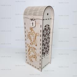 Коробка для шампанского с замочком