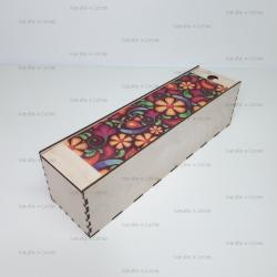 Коробка для вина с цветной печатью