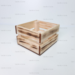 Деревянный ящик 130*130*95мм с обжигом