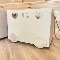 Деревянный ящик для хранения игрушек