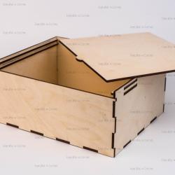 Коробка из фанеры 160*160*90мм