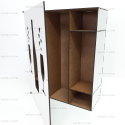 Коробка для вина с бокалами
