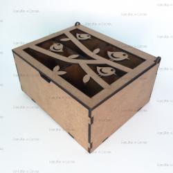 Коробка подарочная с птицами