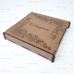 Коробка из фанеры с гравировкой